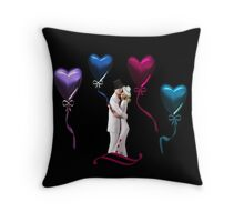 ♥♥LOVE IS IN THE AIR - COUPLE IN LOVE WITH FLOATING HEART BALLOONS♥♥ PILLOW AND OR TOTE BAG Throw Pillow
