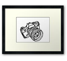 Vintage 35mm SLR Camera Design Framed Print