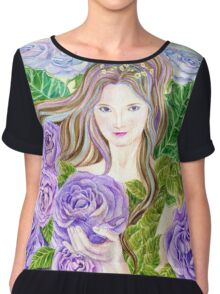 Lilac Mystique Rose Fairy  Chiffon Top