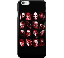 Horror Movie Icons Vector Art iPhone Case/Skin