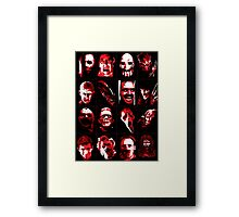 Horror Movie Icons Vector Art Framed Print