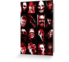 Horror Movie Icons Vector Art Greeting Card