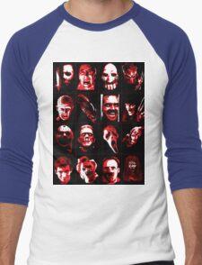 Horror Movie Icons Vector Art Men's Baseball ¾ T-Shirt
