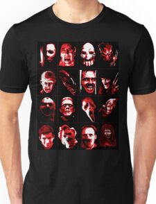 Horror Movie Icons Vector Art Unisex T-Shirt