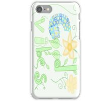 Floral Good Vibes  iPhone Case/Skin