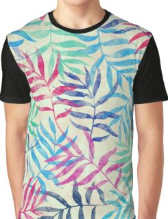 Watercolor Tropical Palm Leaves  Graphic T-Shirt