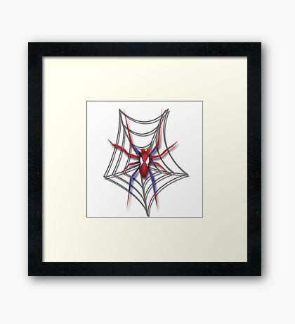 Familiar Spider Framed Print