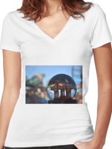 3 in 5 SnowGlobe Women's Fitted V-Neck T-Shirt