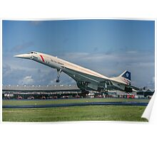 Concorde 102 G-BOAB landing at Farnborough Poster