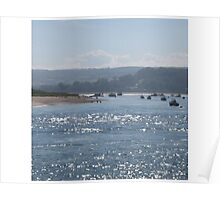 Exmouth - light on the water. Poster