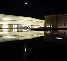 Full Moon Over Nelson Atkins Museum of Art by Catherine Sherman