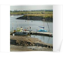 Pilots boat, Burnham and Highbridge estuary. Poster