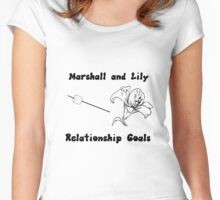 Marshall and Lily Relationship Goals Women's Fitted Scoop T-Shirt