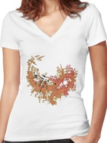 cipher n. 10  (original sold) Women's Fitted V-Neck T-Shirt