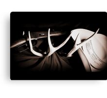 Rifle & Hat Rack Canvas Print