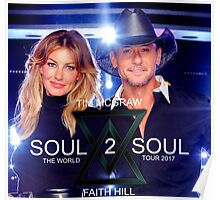 TIM McGraw & FAITH HILL TOUR 2017 - limited edition cover #a Poster