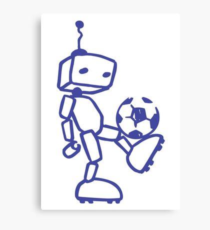 Robot soccer Canvas Print