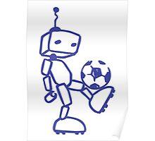 Robot soccer Poster
