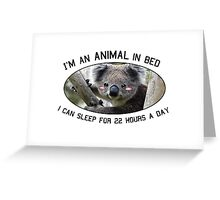 Animal in Bed Greeting Card