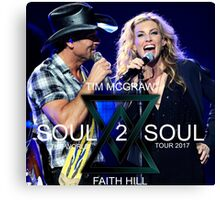 TIM McGraw & FAITH HILL TOUR 2017 - limited edition cover #b Canvas Print