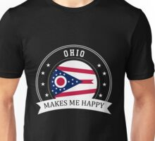 Ohio Makes Me Happy Unisex T-Shirt