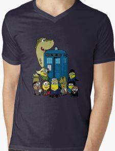 Doc Minion 12 and Chums Mens V-Neck T-Shirt