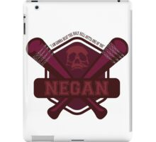 """Walking Dead Negan """"I'm gonnato beat the Holy H*** Out Of One Of You!"""" iPad Case/Skin"""