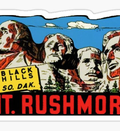 Mount Mt Rushmore South Dakota Vintage Travel Decal Sticker