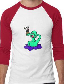 8bit flower offer Men's Baseball ¾ T-Shirt