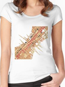 cipher n. 7  (original sold) Women's Fitted Scoop T-Shirt