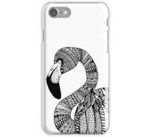 Flamingo B&W iPhone Case/Skin
