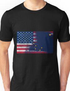 Alaska American Flag Fusion Unisex T-Shirt