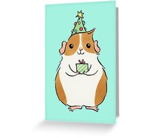 Cute Fluffy Christmas Guinea-pig Greeting Card