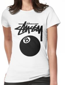hot seller STUSSY edition eight ball big  Womens Fitted T-Shirt