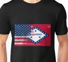 Arkansas American Flag Fusion Unisex T-Shirt