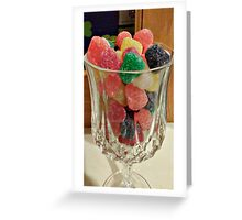 A Glass of Something Spicy and Sweet Greeting Card