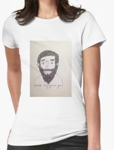 Beards, they grow on you. Womens Fitted T-Shirt