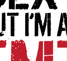 Funny 'I hate being sexy but I'm an EMT so I can't help it' T-Shirt Sticker