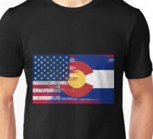Colorado American Flag Fusion Unisex T-Shirt