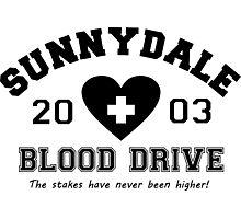 Sunnydale 2003 Blood Drive - Black Photographic Print