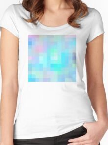 Re-Created Colored Squares No. 1 by Robert S. Lee Women's Fitted Scoop T-Shirt