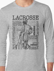 Word Montage-LACROSSE (Male) Long Sleeve T-Shirt