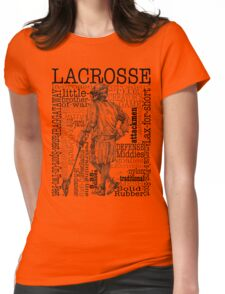 Word Montage-LACROSSE (Male) Womens Fitted T-Shirt