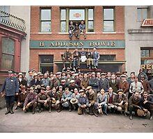 Harley Davidson gang and Bike Shop ca 1925 Photographic Print