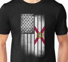 Florida Flag Shirt - Florida American Flag Fusion Unisex T-Shirt
