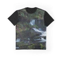 Peaceful Waterfall Graphic T-Shirt