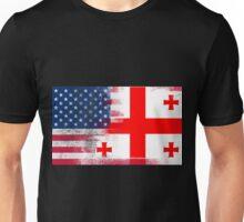Georgia American Flag Fusion Unisex T-Shirt