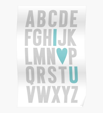 ABC I Love You Blue Poster