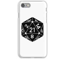 21 Sided 21st Birthday D20 Fantasy Gamer Die iPhone Case/Skin