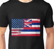 Hawaii American Flag Fusion Unisex T-Shirt